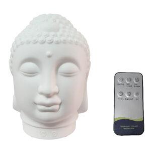 Difuzor umidificator aromaterapie NG Buddha Head White 100ML