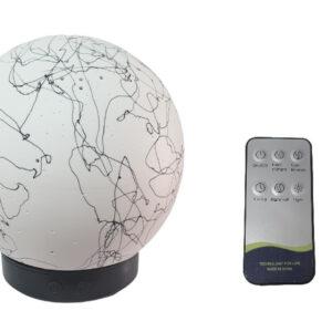 Difuzor umidificator aromaterapie Black Ceramic Sphere Pictata 100ML